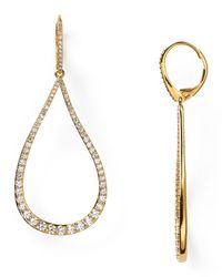 Nadri - Metallic Romantic Contemporary Pave Teardrop Earrings - Lyst