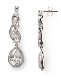 Nadri - Metallic Romantic Contemporary Linear Drop Earrings - Lyst