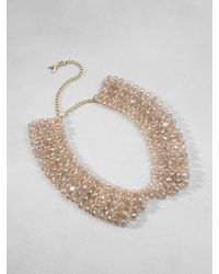 Patrizia Pepe | Metallic Collareffect Necklace in Brass and Glass | Lyst