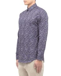 Paul Smith - Blue Floral-print Shirt for Men - Lyst