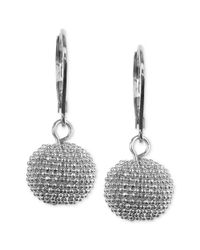 Anne Klein - Metallic Silvertone Leverback Drop Earrings - Lyst