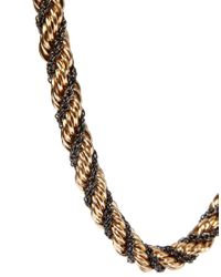 ASOS - Metallic Double Twist Chain Necklace - Lyst