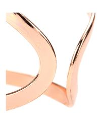 Campbell - Pink Rose Gold Plated Knuckle Floating Ring - Lyst