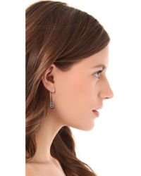 House of Harlow 1960 - Metallic Pave Top Safety Pin Earrings - Lyst