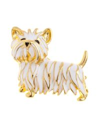 John Lewis | White Scottie Dog Enamel Brooch | Lyst
