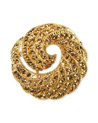 Jones New York - Metallic Gold-tone Crystal Swirl Box Pin - Lyst