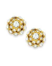 Kate Spade | Metallic Earrings, 12k Gold-plated Crystal Ball Stud Earrings | Lyst