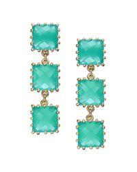 kate spade new york | Green Kate Spade New York Earrings Goldtone Mint Stone Linear Drop Earrings | Lyst