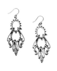 Lucky Brand | Metallic Silver Swing Earrings | Lyst