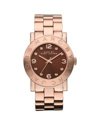 Marc By Marc Jacobs | Pink Women'S Rose Gold Ion Plated Stainless Steel Bracelet 36Mm Mbm3167 | Lyst