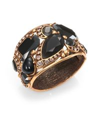 Oscar de la Renta - Metallic Faceted Cuff Bracelet - Lyst