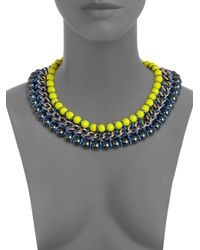 Proenza Schouler - Yellow Neon Bead Chain and Rope Necklace - Lyst