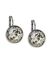 Swarovski - Metallic Bella Round Crystal Earrings - Lyst