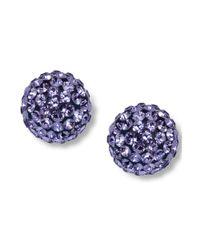 Swarovski | Purple Pointiage Stud Earrings | Lyst