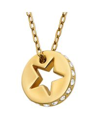 Swarovski | Metallic 22k Gold Plated Crystal Now Star Pendant Swarovksi Necklace | Lyst