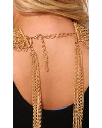 AKIRA - Metallic Multi Function Necklace Set in Gold - Lyst