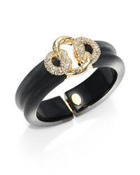 Alexis Bittar - Black Lucite Crystal Large Knot Bangle Bracelet - Lyst