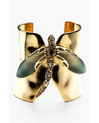Alexis Bittar   Metallic Lucite Neo Bohemian Dragonfly Cuff Bracelet   Lyst