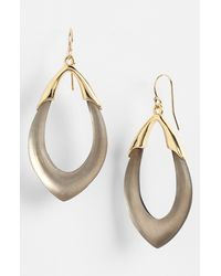 Alexis Bittar | Gray 'lucite - Neo Bohemian' Open Drop Earrings - Warm Grey | Lyst