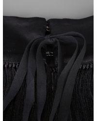 Ann Demeulemeester - Black Oversize Fringe Necklace - Lyst