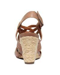 Clarks Brown Artisan Kyna Smart Wedge Sandals