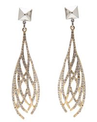 Fallon | Metallic Drop Earrings | Lyst