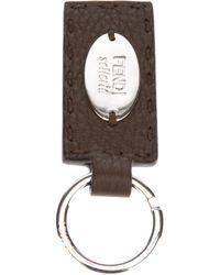 Fendi | Brown Selleria Key Ring for Men | Lyst
