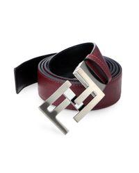 Fendi | Red Reversible Skinny Belt | Lyst