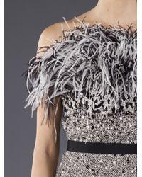 Giambattista Valli - Metallic Bejeweled Bodice Dress - Lyst