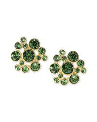Givenchy - Green 10k Goldplated Erinite Swarovski Element Bubble Earrings - Lyst