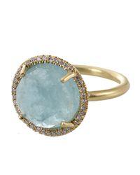 Irene Neuwirth - Metallic Rose Cut Aquamarine Ring - Lyst