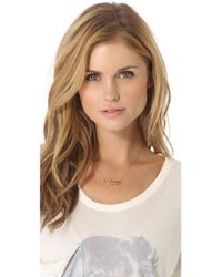 Juicy Couture - Metallic Panther Charm Necklace - Lyst