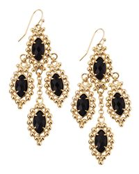 Kendra Scott | Fiona Beadedset Chandelier Earrings Blue Goldstone | Lyst