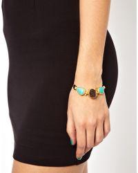 Deepa Gurnani - Blue Ottoman Hands Stones On Cord Bracelet - Lyst
