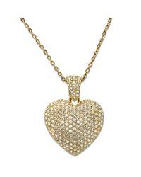 Swarovski - Metallic Puffed Heart Pendant - Lyst