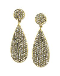 Vince Camuto | Metallic Goldtone Crystal Pave Teardrop Earrings | Lyst