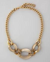 Alexis Bittar Metallic Neo Boho 3link Chain Necklace