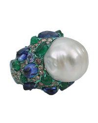 Arunashi - Green Pearl Ring - Lyst
