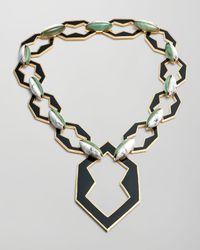 Eddie Borgo | Metallic Peaked Link Pendant Necklace | Lyst
