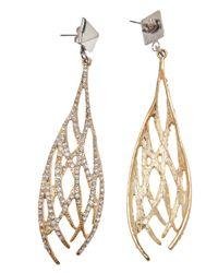 Fallon - Metallic Drop Earrings - Lyst