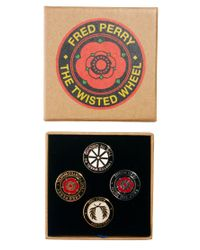 ASOS - Multicolor Fred Perry Pin Badge Set - Lyst
