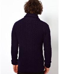 Anerkjendt - Black G Star Knit Cardigan Nimrod Shawl Collar Oxford Cable for Men - Lyst
