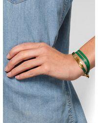Gorjana - Kelly Green Graham Leather Bar Triple Wrap - Lyst