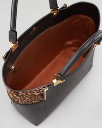 Lanvin - Partition Northsouth Shopper Tote Blackleopard - Lyst