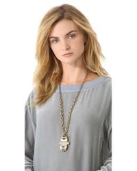 Lulu Frost - Metallic Solar Pendant Necklace - Lyst