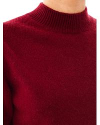 Marc Jacobs - Red High-Neck Cashmere Sweater - Lyst