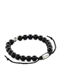 Paul Smith - Black Skull Bead Bracelet for Men - Lyst