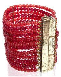 Rosantica | Red Cornelian Coral Aurora Bracelet | Lyst