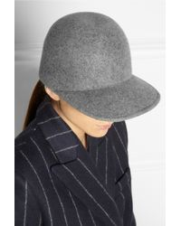 Stella McCartney - Gray Wool Baseball Cap - Lyst