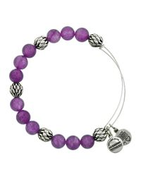 ALEX AND ANI - Purple Sugar Pop Bangle - Lyst